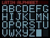 Alfabeto latino. Imágenes de archivo libres de regalías