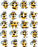 Alfabeto latino ABC divertente dell'ape illustrazione vettoriale