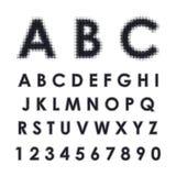 Alfabeto latino con effetto di semitono Immagini Stock Libere da Diritti