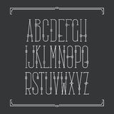 Alfabeto latino del trazo de pie de Monoline Foto de archivo