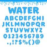 Alfabeto latino dell'acqua di vettore royalty illustrazione gratis