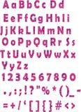 Alfabeto latino dentellare Immagini Stock