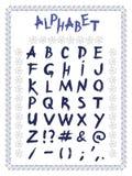 Alfabeto latino, disegnato a mano, vettore royalty illustrazione gratis