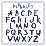 Alfabeto latino, disegnato a mano, vettore illustrazione vettoriale