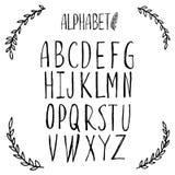 Alfabeto latino, fuente, poniendo letras Foto de archivo