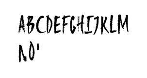 Alfabeto latino maiuscolo disegnato a mano animato royalty illustrazione gratis