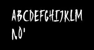 Alfabeto latino maiuscolo disegnato a mano animato su fondo trasparente illustrazione vettoriale