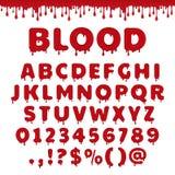 Alfabeto latino sangriento del vector ilustración del vector