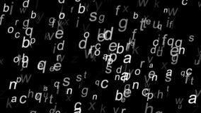 Alfabeto latino su un fondo nero royalty illustrazione gratis