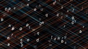 Alfabeto latino su un fondo scuro illustrazione vettoriale