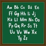 Alfabeto in lavagna Fotografia Stock Libera da Diritti