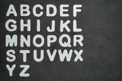 Alfabeto foto de archivo libre de regalías