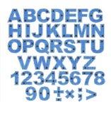 Alfabeto - letras de uma tela das calças de brim Fotos de Stock Royalty Free