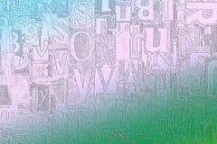 Alfabeto, letras y números como fondo imagen de archivo libre de regalías