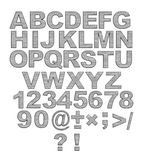 Alfabeto - lettere 3d da metallo con i ribattini Fotografia Stock Libera da Diritti