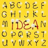 Alfabeto Lettere da A alla Z Fotografie Stock Libere da Diritti