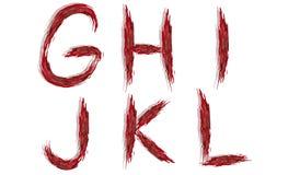 Alfabeto - lettere sanguinose Immagini Stock Libere da Diritti