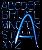 Alfabeto ligero Imagen de archivo libre de regalías