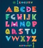 Alfabeto lindo Fotografía de archivo libre de regalías