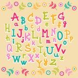 Alfabeto lindo de los niños Fotografía de archivo