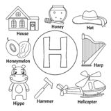 Alfabeto lindo de los niños del vector ilustración del vector