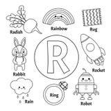 Alfabeto lindo de los niños del vector libre illustration