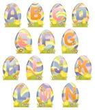 Alfabeto lindo de Pascua Fotografía de archivo