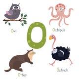 Alfabeto lindo del parque zoológico Fotografía de archivo