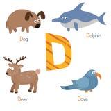 Alfabeto lindo del parque zoológico Fotos de archivo libres de regalías