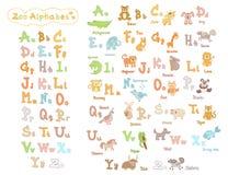 Alfabeto lindo del parque zoológico de los niños Imagen de archivo libre de regalías