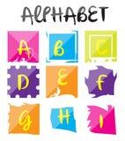 Alfabeto Logo Set Illustration Fotografie Stock