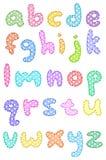 Alfabeto lowercase do ponto de polca com pontos Imagem de Stock Royalty Free