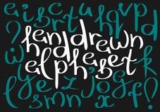 Alfabeto lowercase inglês curvado incomum Ilustração do Vetor