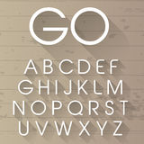 Alfabeto lungo dell'ombra di vettore Fotografia Stock Libera da Diritti