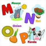 Alfabeto M N O P Fotografía de archivo
