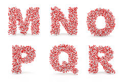 Alfabeto M N O P Q R dos comprimidos Imagens de Stock