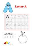 Alfabeto, maçã Fotos de Stock