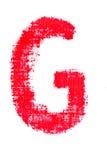 Alfabeto maiuscolo del rossetto - lettera maiuscola G Fotografia Stock