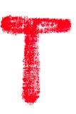 Alfabeto maiuscolo del rossetto - lettera maiuscola T Fotografia Stock