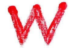 Alfabeto maiuscolo del rossetto - lettera maiuscola W Immagini Stock