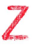 Alfabeto maiuscolo del rossetto - lettera maiuscola Z Fotografia Stock