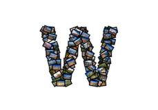 Alfabeto maiuscolo di forma della fonte della lettera W Fotografia Stock