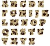 Alfabeto manchado felpa de la piel Imagen de archivo