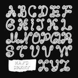 Alfabeto Mano drenada Ejemplo eps8 Foto de archivo