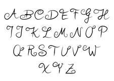 Alfabeto manuscrito Fotografía de archivo libre de regalías