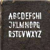 Alfabeto manuscrito con la brocha de imitación Fuente de vector Imagen de archivo libre de regalías