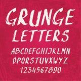 Alfabeto manuscrito del grunge con las letras y Fotografía de archivo libre de regalías