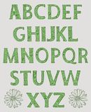 Alfabeto Mayúsculas adornadas con los estampados de flores ilustración del vector