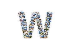 Alfabeto mayúsculo de la forma de la fuente de la letra W imágenes de archivo libres de regalías