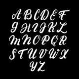 Alfabeto mayúsculo escrito mano Foto de archivo libre de regalías